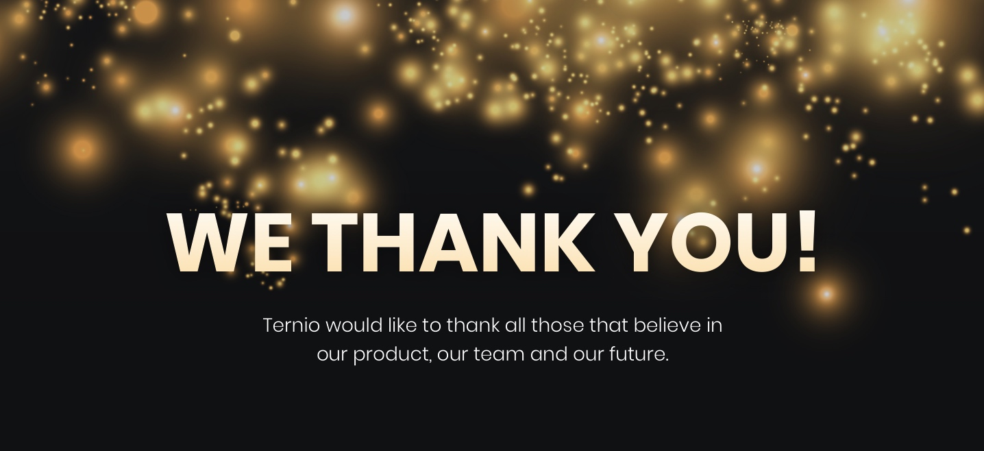 Ternio, Top 100 Investors, thank-you-hero